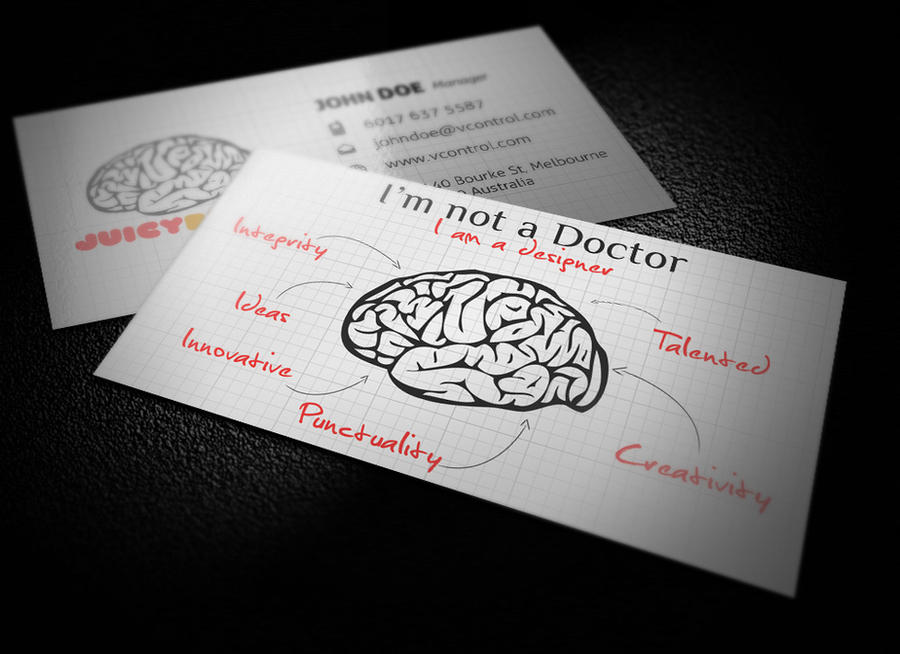 Juicy Brain Business Card No.4 by KaixerGroup