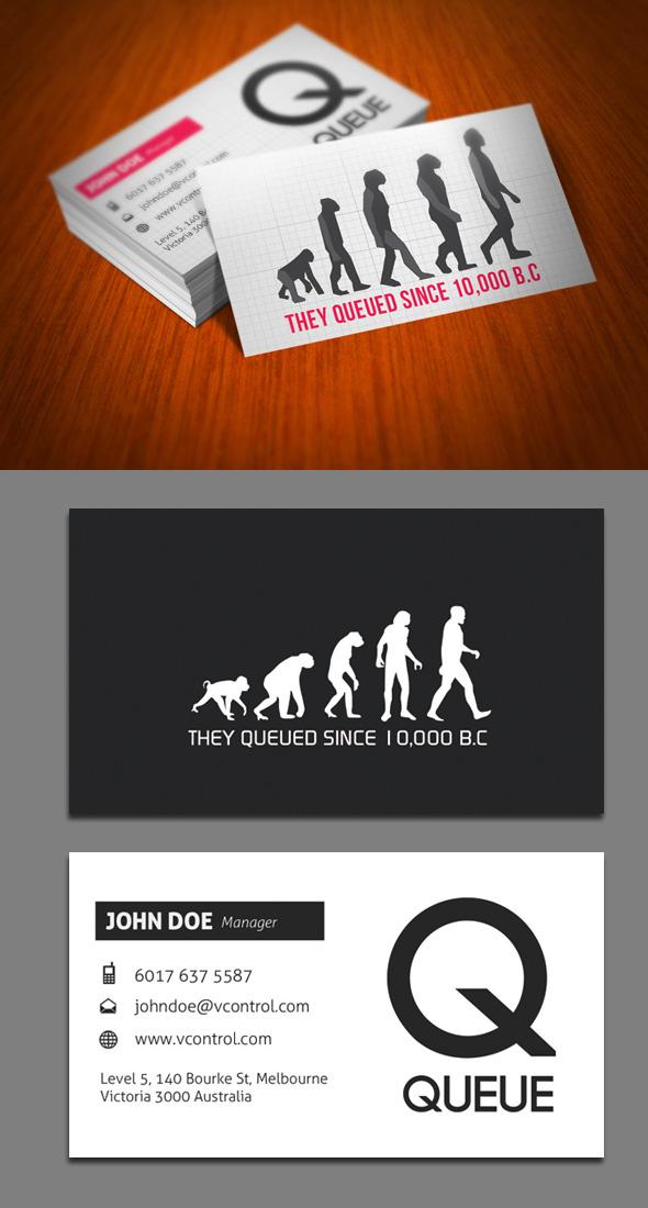 Queue Business Card
