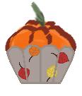 Artistic Pumpkin Cupcake by cillanoodle
