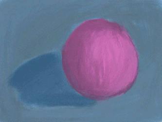 Study of a purple ball