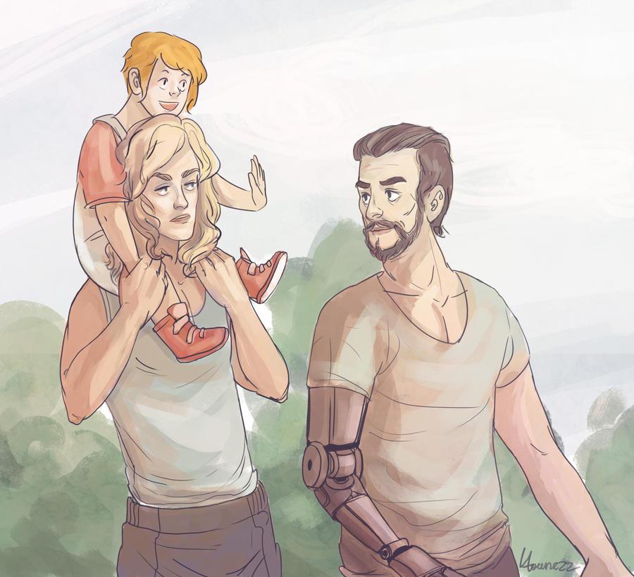 Family Walk by Kvelde