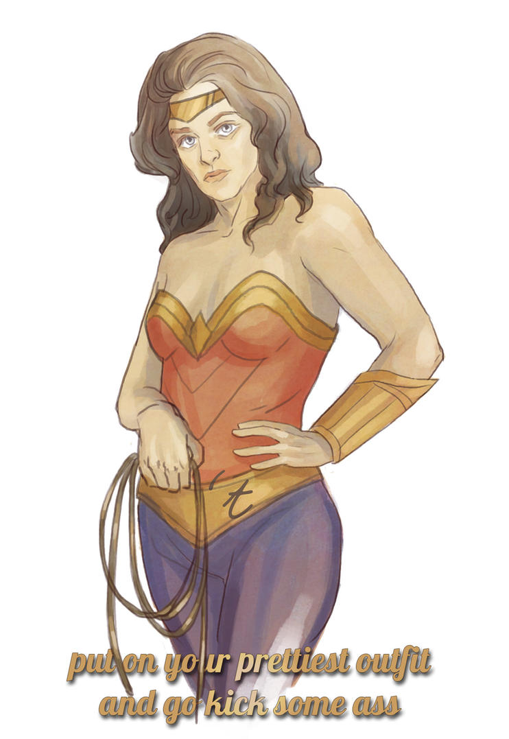 Wonder Woman Is a Proud Feminist by Kvelde