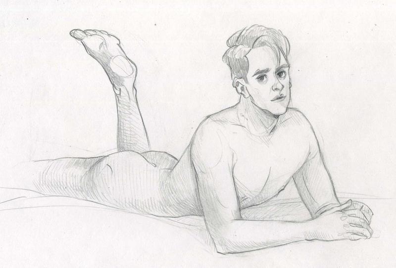 Boy on Bed by Kvelde