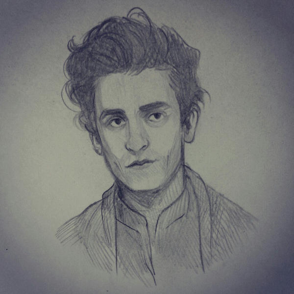 Poe sketch by Kvelde