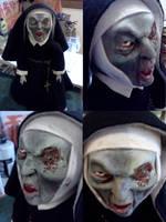 Bloody mary zombie nun doll OOAK by miasansom