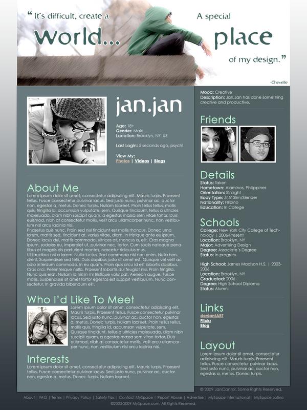 MySpace Layout by jannyjanjan