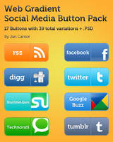 Web Social Media Button by jannyjanjan