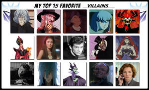 My Top 15 Favorite Villains Meme
