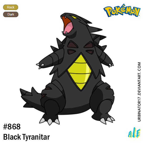 Black Tyranitar by Urbinator17 on DeviantArt