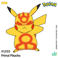 Primal Pikachu by Urbinator17