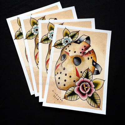jason voorhees tattoo flash by michelle coffee by misscoffee on deviantart. Black Bedroom Furniture Sets. Home Design Ideas