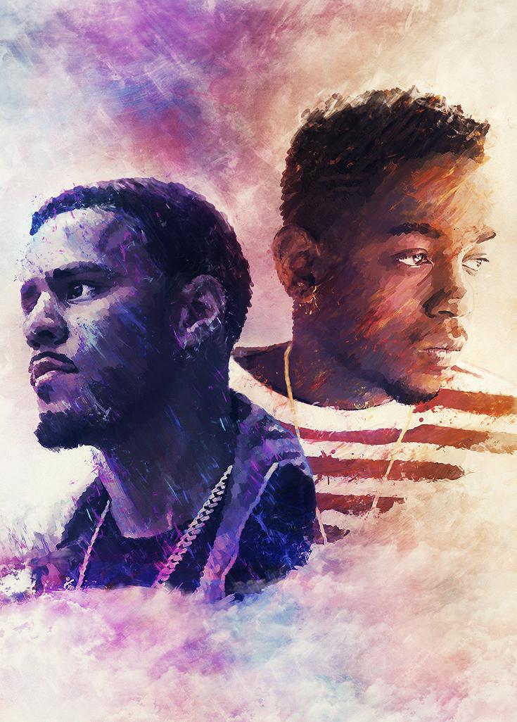 J. Cole // Kendrick Lamar by Volture on DeviantArt