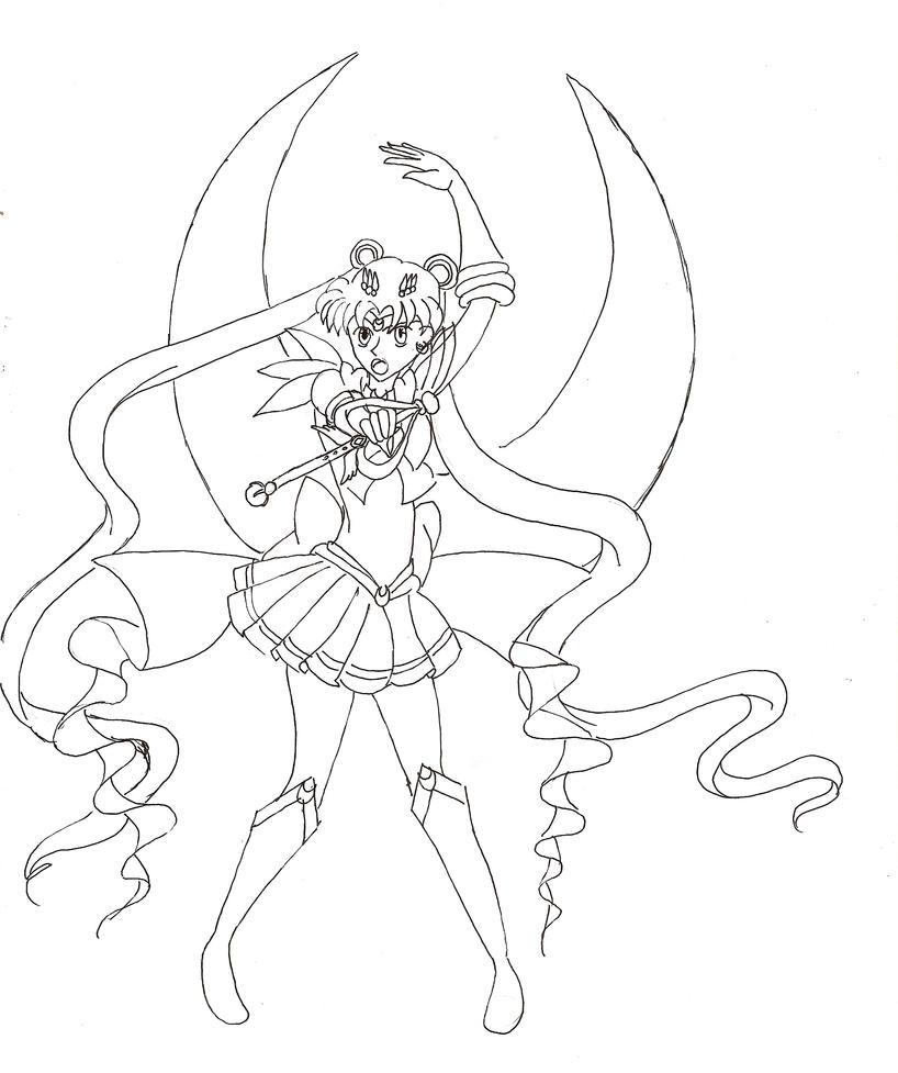 Line Art Moon : Moon gorgeous line art by evilness on deviantart