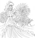 Radiant Flower Goddess- Lines