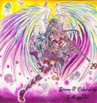 :Ceci's-Contest: Lollipop Rainbow Angel by Evilness321