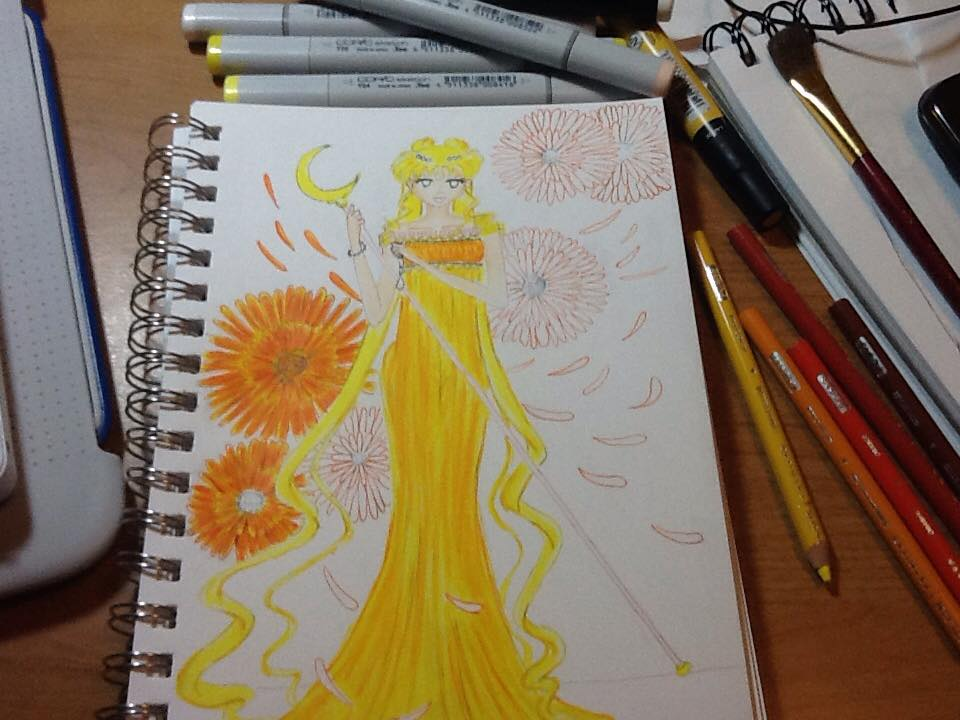 :SM: Princess Serenity- Autumn Colors WiP by Evilness321