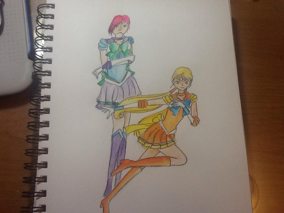 Sailor Xenith and Solaria by Evilness321