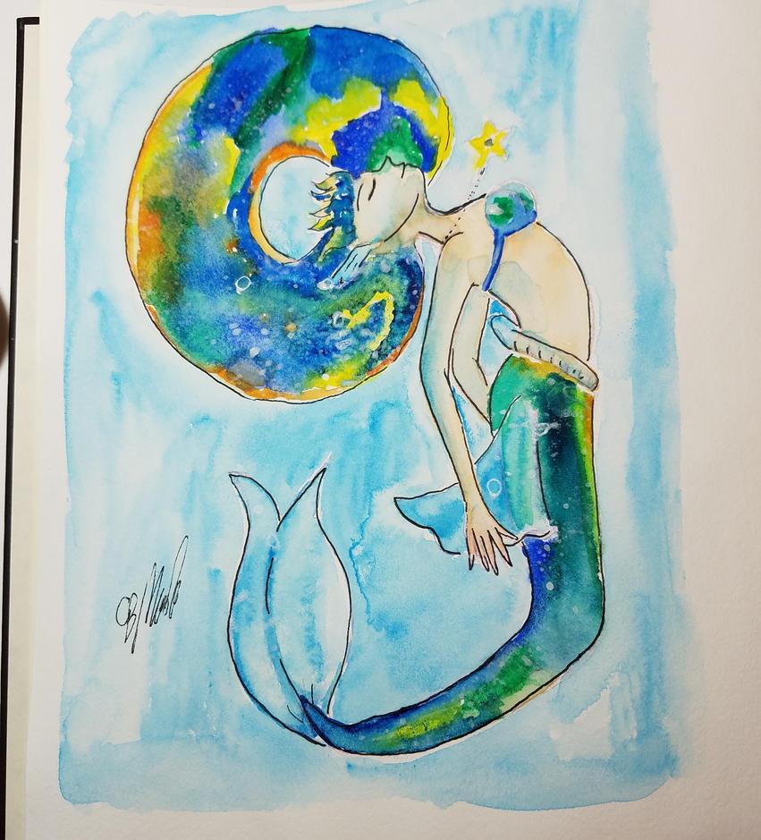 Galaxy Mermaid by Evilness321