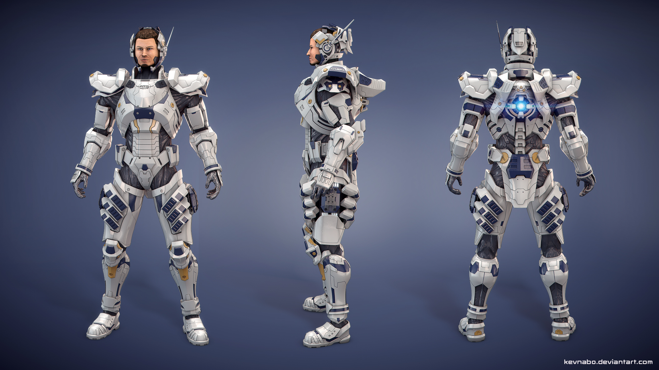 vanquish game characters. sam gideon from vanquish retracted helmet by kevnabo game characters w