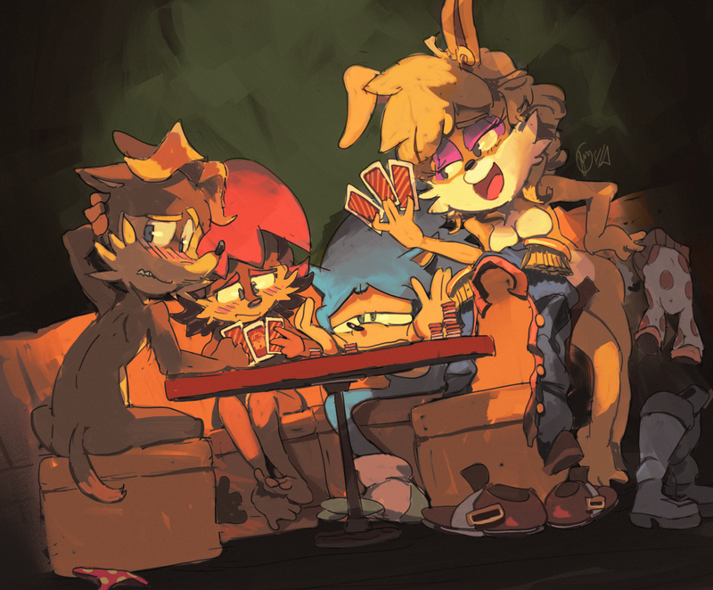 Sonic strip poker