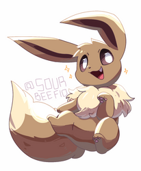 eevee (phone doodle) by mien-soup