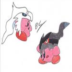 Reshiram and Zekrom Kirbys