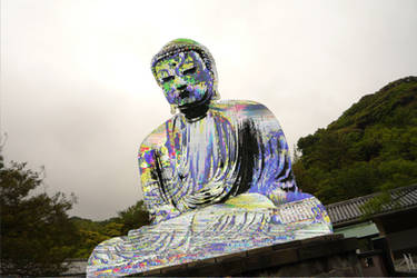 Great buddha at Kamakura by PFunkus