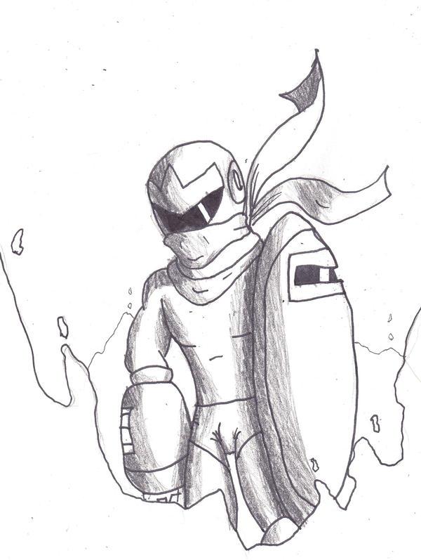 Protoman arrives by jhr921