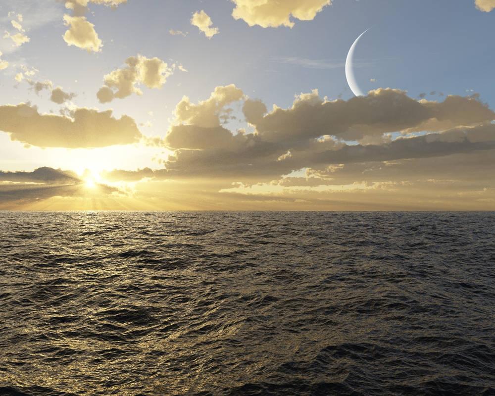 Ocean Sunrise by Bluefinger
