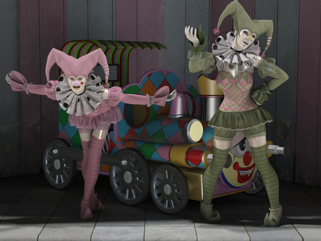 Clown Dolls 01 by creativeguy59