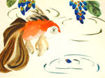Goldfish and Peacock Petals