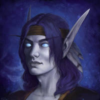 Void elf portrait by Oxanta