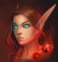Blood elf monk by Oxanta