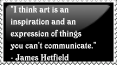 James Hetfield Quote Stamp by OkdroMasterOfRunes