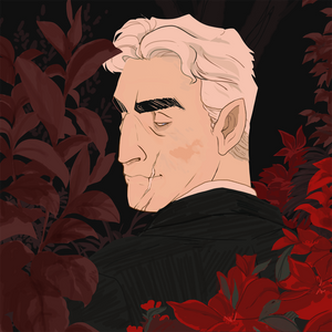 Cyrus and flowers
