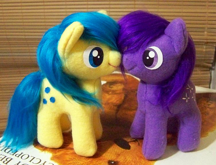 Jellybean prize pony plushies by Voodoo-Tiki