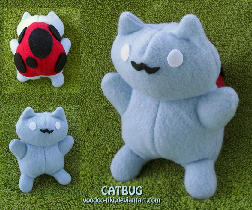 Catbug plushie by Voodoo-Tiki