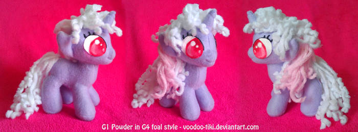 G1 Powder in G4 foal style Pony Plush