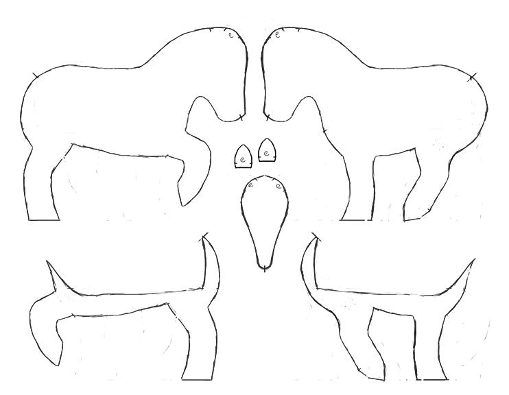 Felt pony pattern by Voodoo-Tiki
