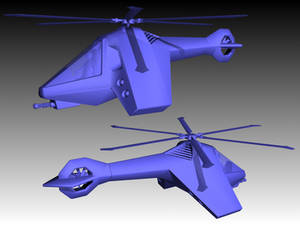 Stealth Recon Helicopter