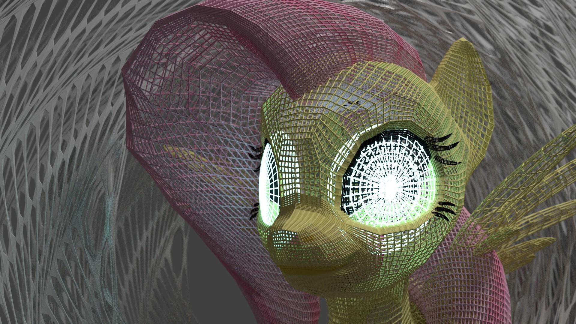 Fluttershy WireFrame by Shastro
