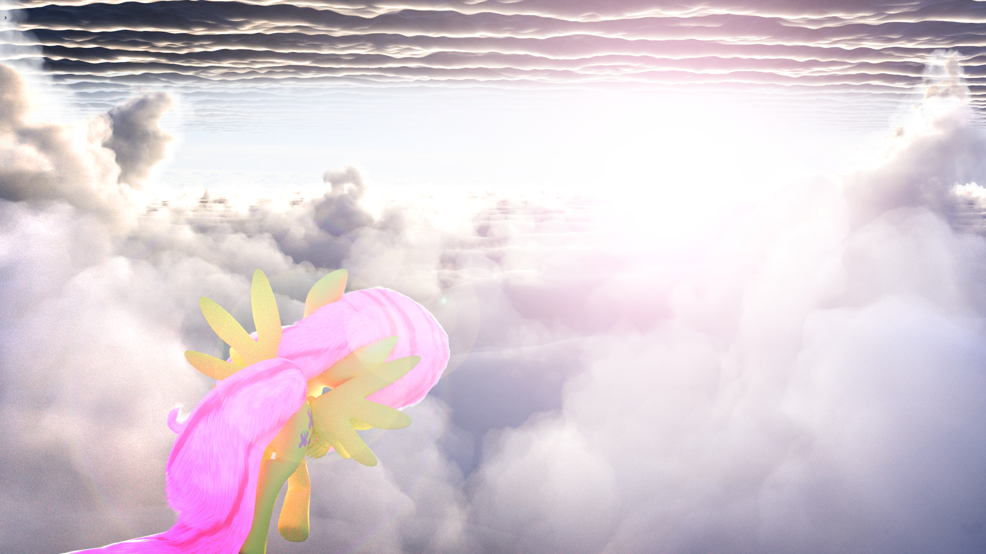 Fluttershy Clouds [WIP 4] by Shastro