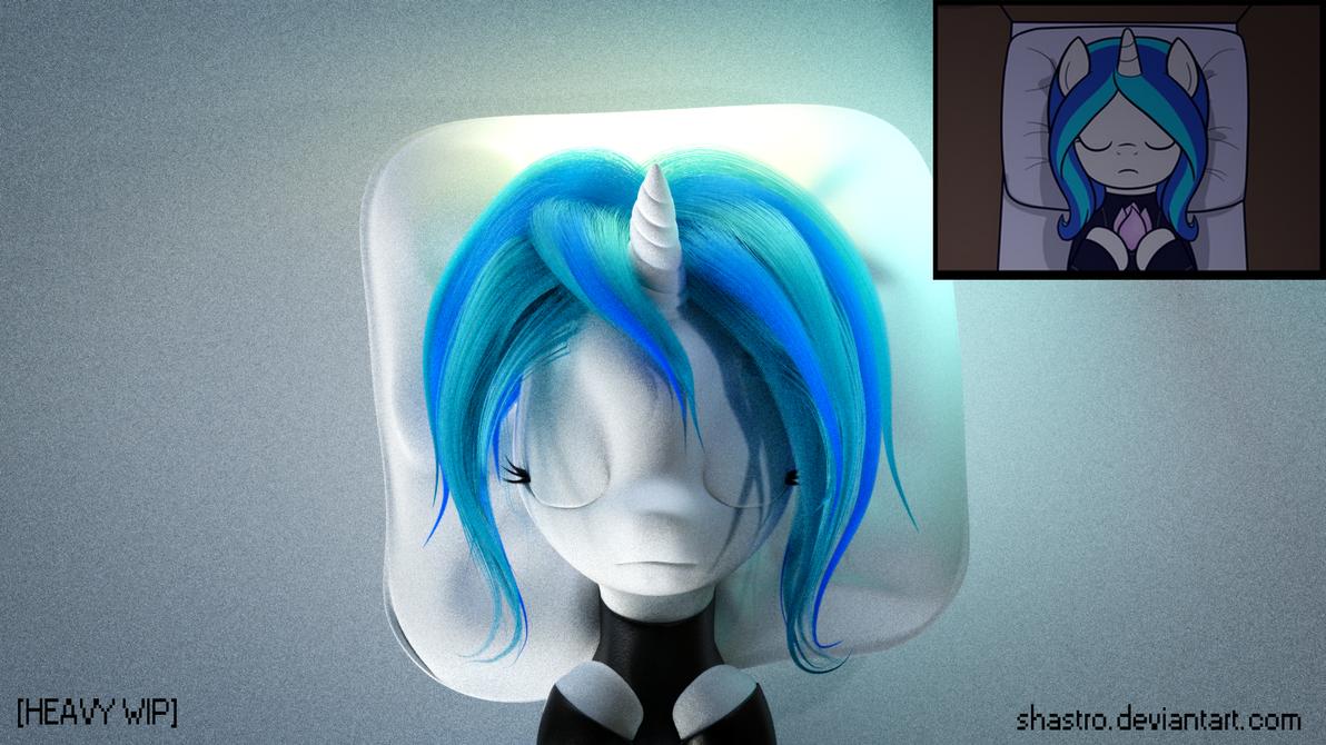 AtN Fan Art [WIP]- 3 - Even MOAR Hair Progress by Shastro