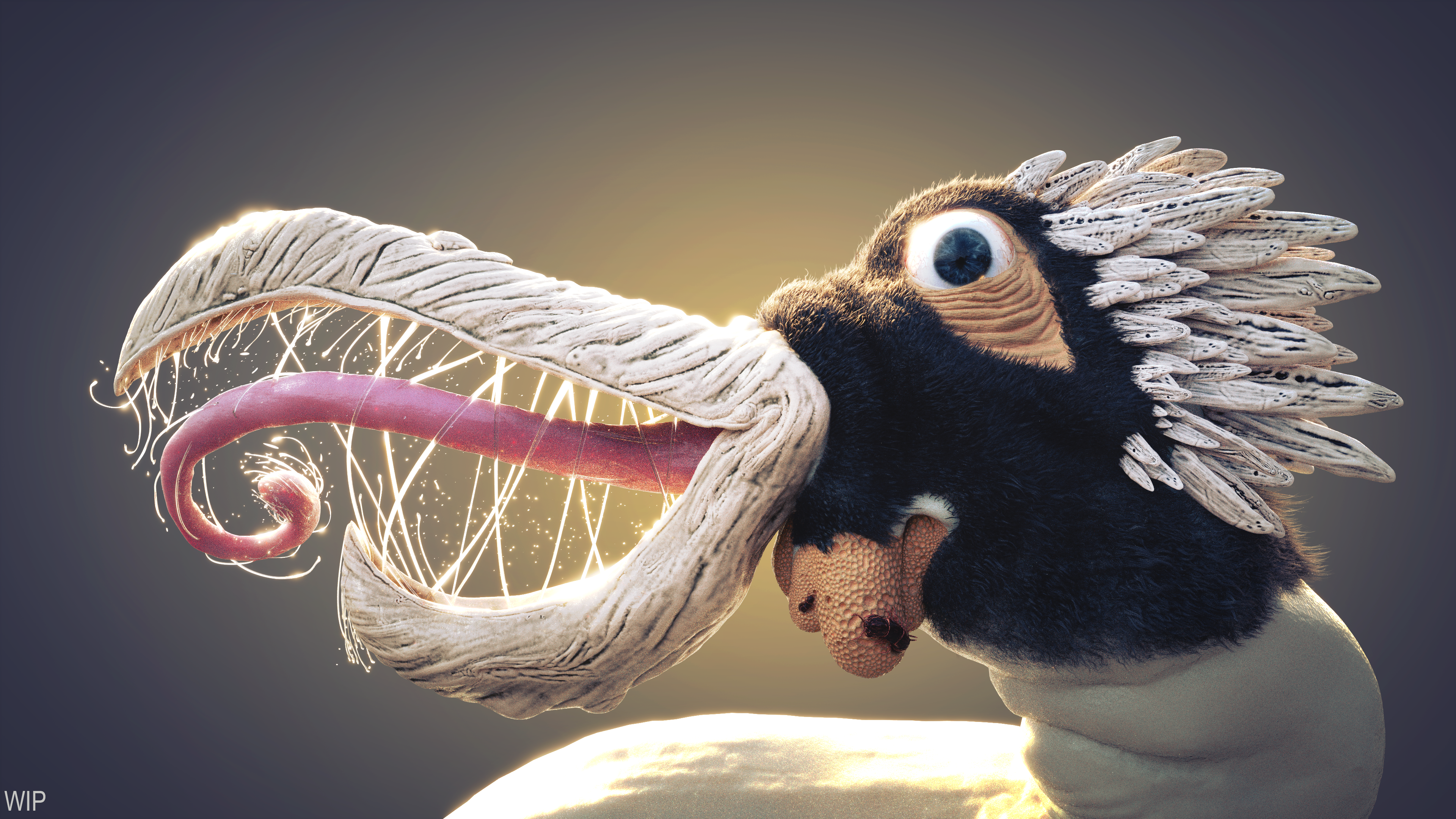 Birb WIP- Saliva, Centipedes, Fur, and Trypophobia by Shastro