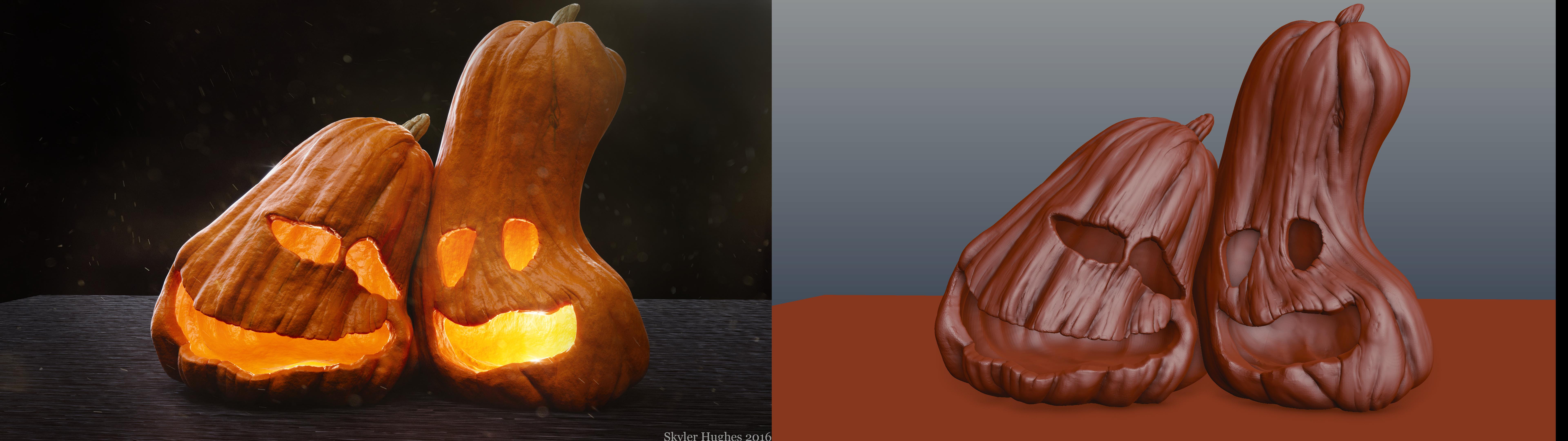 Unfinished Halloween Work- Buddy Pumpkins by Shastro