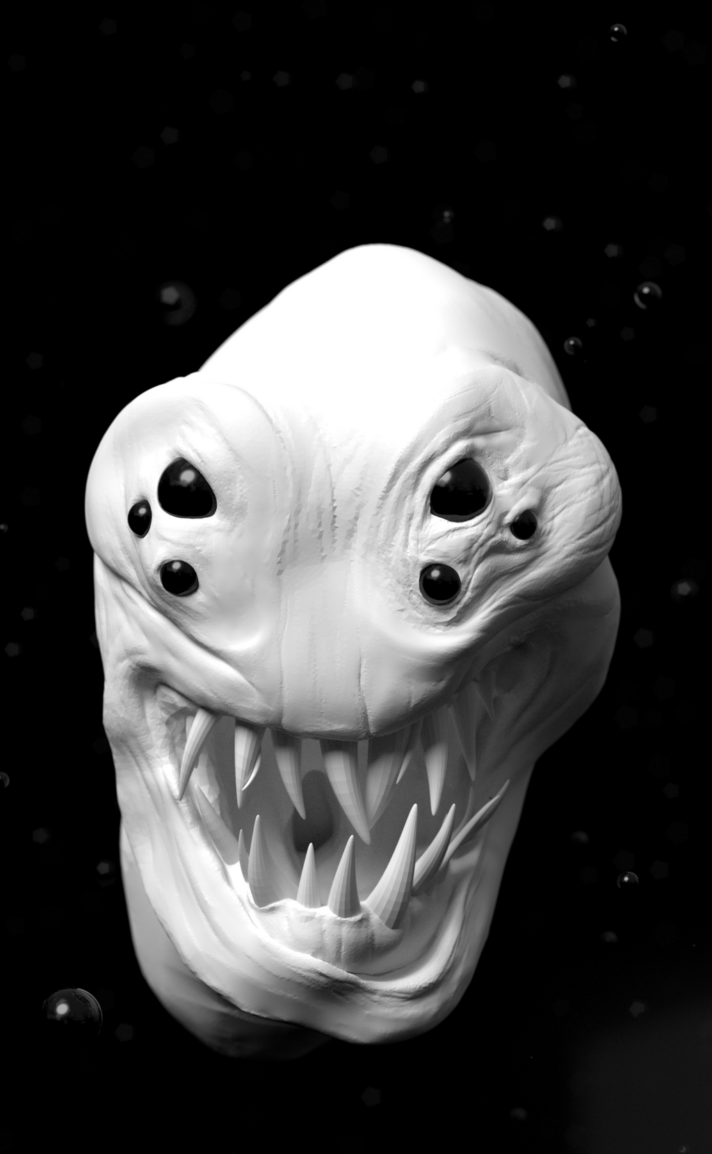 Creature WIP Front Angle CloseUp by Shastro