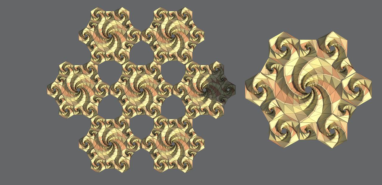 Semi-Regular Tesselations of Spidron Fractals by Shastro