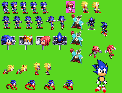 Sonic Time Twisted Sprite Dump by bennascar