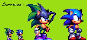 Ashura the Hedgehog - Sonic Uprising Style