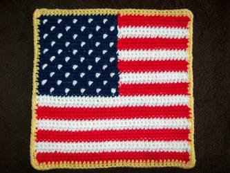 Granny Square - American Flag by SexxiVexxi